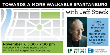 Towards a More Walkable Spartanburg with Jeff Speck tickets