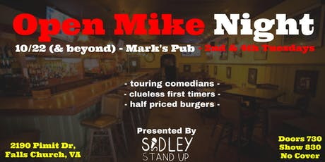 Mark's Pub Open Mic Night [stand-up comedy] tickets