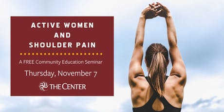 Active Women and Shoulder Pain tickets