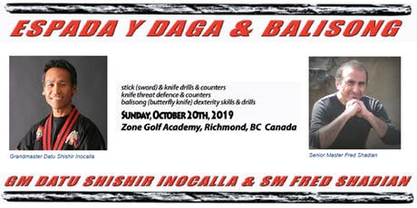 Espada Y Daga and Balisong - Martial Arts Boot Camp - Stick Sword and Knife tickets
