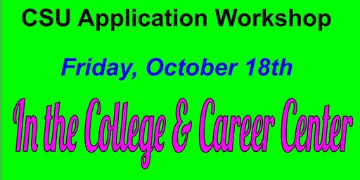 CSU Application Workshops