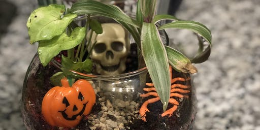 Halloween Terrariums @ The Atrium at Uccello's