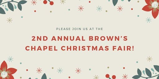 Brown's Chapel Christmas Fair!
