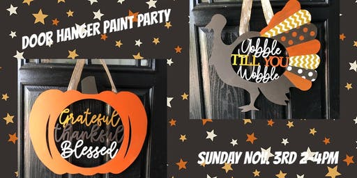 Holiday Door Hanger Paint Party hosted by Cindy Sterne