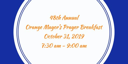 48th Annual Orange Mayor's Prayer Breakfast
