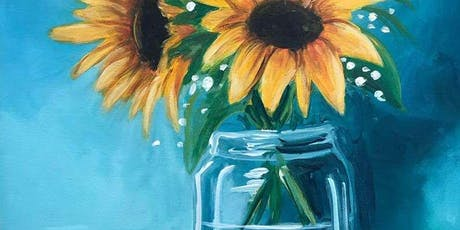 Sunflowers in a Glass Saturday Afternoon Paint Party tickets