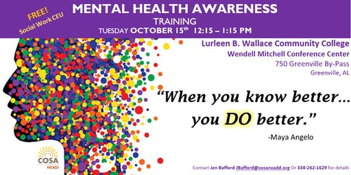 Mental Health Awareness Training (LBWCC Butler)