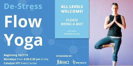 De-Stress Flow Yoga at Catalyst HTI tickets