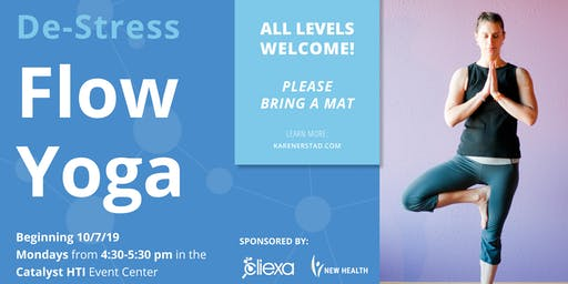 De-Stress Flow Yoga at Catalyst HTI