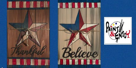 """Paint and Enjoy at Benigna's Winery """"Patriotic Paintings""""on Wood tickets"""