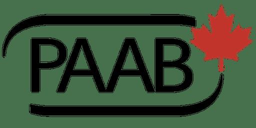 PAAB Training: Toronto, November 28, 2019