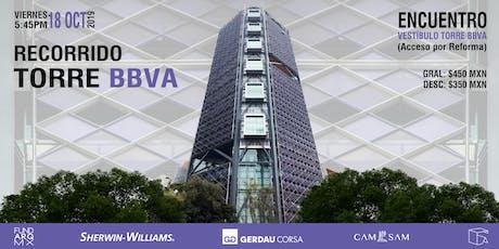 Recorrido:  Torre Bancomer -BBVA entradas
