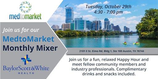MedtoMarket October Mixer Sponsored by Baylor Scott & White Health