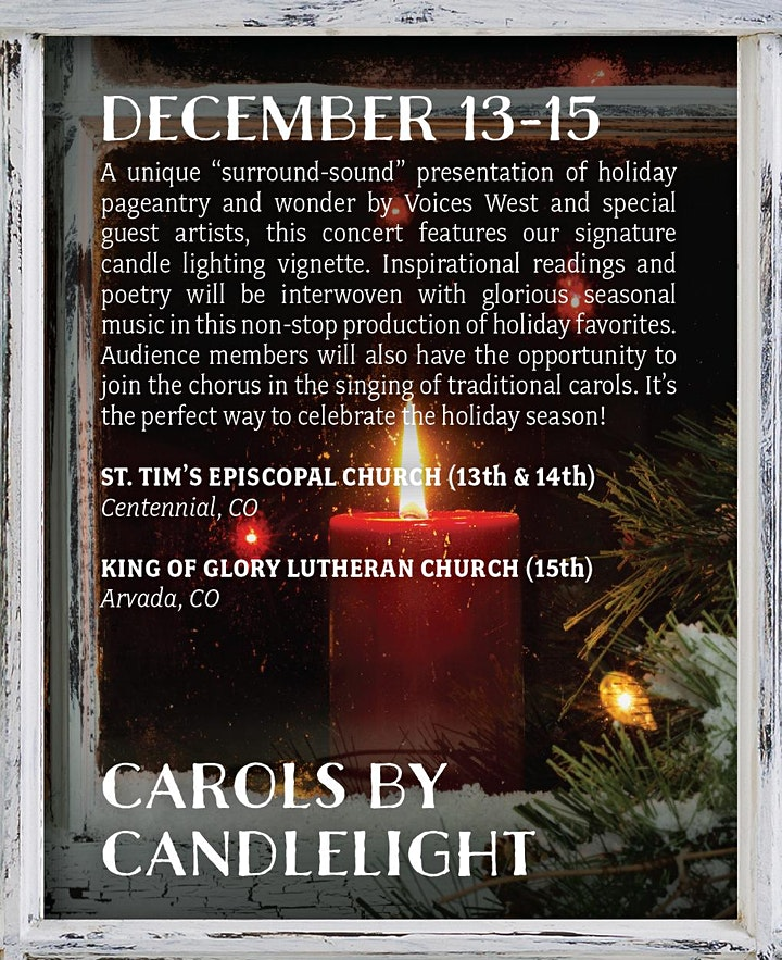 Carols by Candlelight - Saturday image