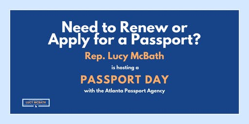 Passport Day with Rep. Lucy McBath