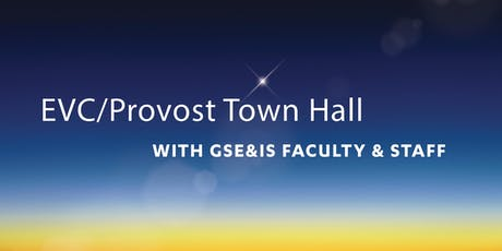 EVC/Provost Town Hall tickets