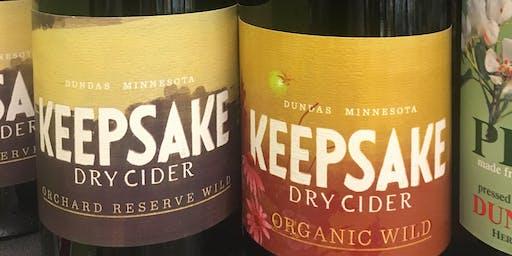 Keepsake Cidery Tasting and Pairing