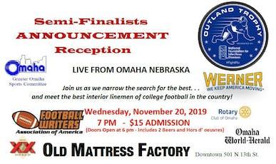 Outland Trophy Semi-Finalists Announcement Reception tickets