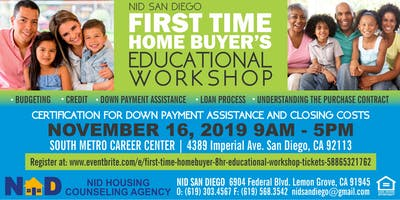 First Time Homebuyers 8hr Educational Workshop