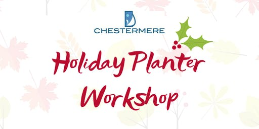 Holiday Planter Workshop