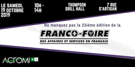 23e édition de la Franco-Foire !  / 23rd edition of the Franco-Foire! billets