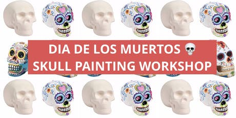 Dia de los Muertos/Day of the Dead 3D Skull painting/mixed media workshop tickets
