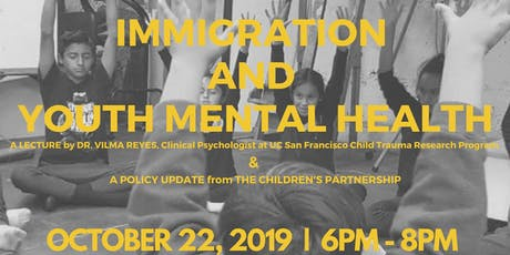 Immigration and Youth Mental Health  tickets
