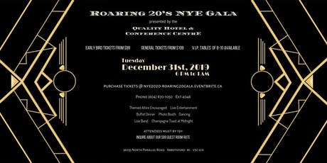 NYE 2020 - Roaring 20's Gala tickets