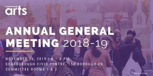 SAVE THE DATE: Scarborough Arts' Annual General Meeting 2018-19