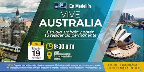 EN MEDELLÍN: Estudiar, trabajar y migrar a Australia es posible! entradas