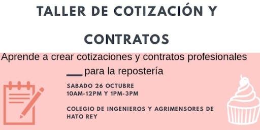 Taller De Cotización Y Contrato Para Reposteras