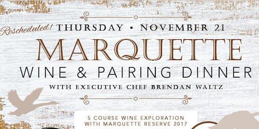 Rescheduled Marquette Wine Pairing Dinner