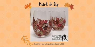 Paint & Sip - Fall Leaves on Wine Glasses - 11/16 - Chateau Bu De