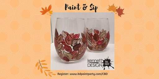 Paint & Sip - Fall Leaves on Wine Glasses - 11/16 - Chateau Bu De