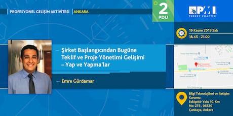 PMI TR Profesyonel Gelişim 2019 Kasım Ayı Aktivitesi - Ankara tickets