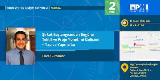 PMI TR Profesyonel Gelişim 2019 Kasım Ayı Aktivitesi - Ankara