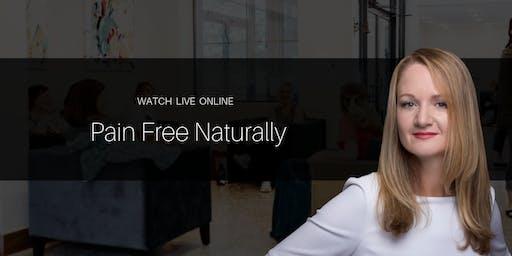 Pain Free Naturally | FREE Webinar Event with Dr. Katinka van der Merwe