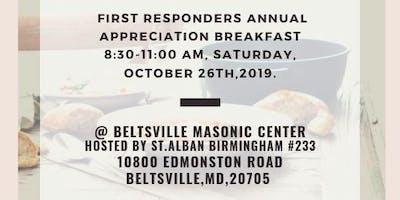 First Responders Annual Appreciation Breakfast.