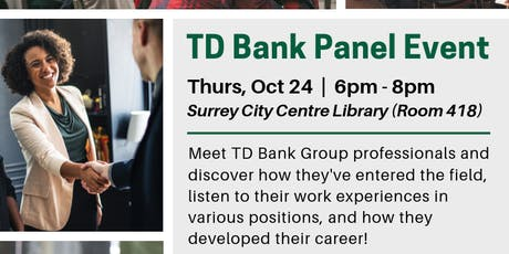 TD Bank Panel Event (Surrey) tickets
