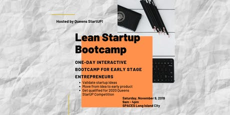 Lean Startup Bootcamp: Tool and Frameworks to Validate Startup Ideas tickets