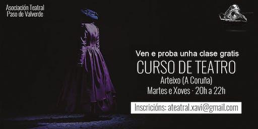 Clase de Teatro en Arteixo con Paso de Valverde