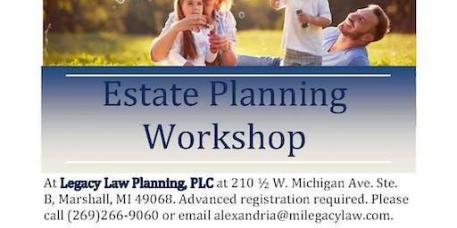 Estate Planning Workshop October 2019