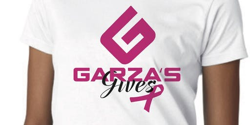 "GARZA GIVES: Walk for Breast Cancer ""Donation And Walk"" (T-shirts sold out)"