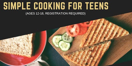 November Simple Cooking for Teens (ages 10 -16 only)
