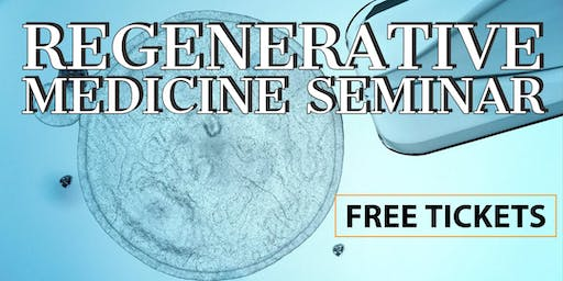 FREE Regenerative Medicine & Stem Cell For Pain Relief Lunch Seminar - Myrtle Beach / Murrells Inlet, SC