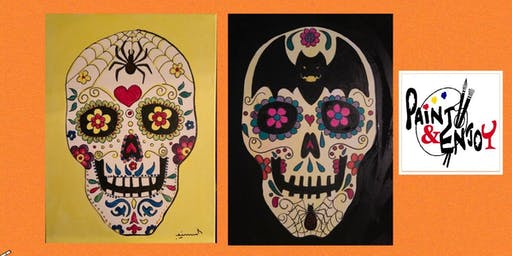 "Paint and Enjoy at Naylor Wine Shoppe ""Sugar Skull"" on Canvas"