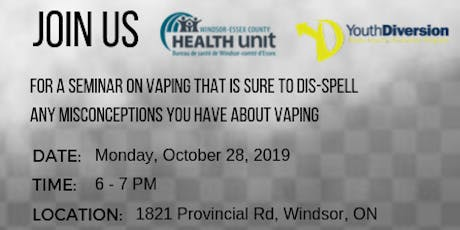Vaping Information Seminar for Youth ages 10-17. tickets