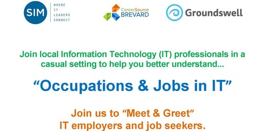 Meet and Greet,  IT Employers, Discover IT Occupations as a Jobseeker