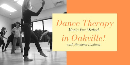 Dance Therapy – Maria Fux Method, in Oakville (Oct 12 and 26)