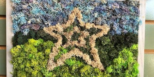 Moss Art - Star or DIY Design